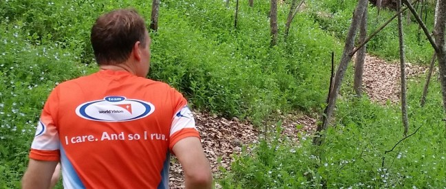 """I Care So I Run"" for children around the globe with Team World Vision."